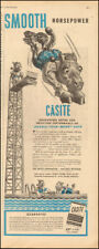 1946 Vintage ad for Casite Oil`art Horse Pool retro    WWII  (071718)