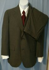 Brooks Brothers Men's Gray Pin striped 100% Wool 2 button Custom size suit