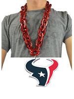 New NFL Houston Texans Red Fan Chain Necklace Foam Magnet - 2 in 1