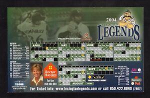 Lexington Legends--2004 Magnet Schedule--Astros Affiliate