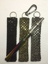 3) E-cigarette KEY CHAIN Holder Vape Battery Kanger ego ecig epen Sequins Bling