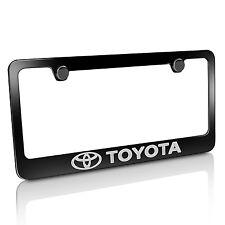 Toyota Logo Black Metal License Plate Frame