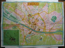 colorful old street map of Florence Italy (Firenze)
