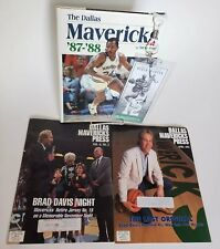 Dallas Mavericks 87-88 Steve Pate, Magazines & Jersey #12 Retirement Pass Lot