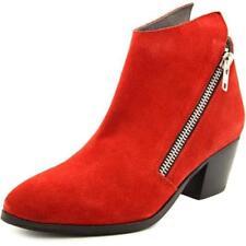 Calzado de mujer de tacón medio (2,5-7,5 cm) de color principal rojo de ante