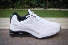 Scarpe Nike Shox R4 EU Bianco White Nero 40, 41, 42, 43, 44, 45 -  SALDI -40%