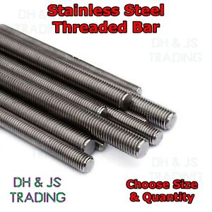 Fully Threaded Metric Bar - Screwed Rod Studded Rod Stainless Steel (A2) 300mm