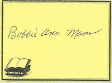 BOBBIE ANN MASON, author, AUTHENTIC HAND SIGNED BOOKPLATE