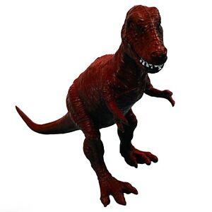 "Vintage 1987 Diorama Dinosaur Figure Tyrannosaurus Rex Trex 6 1/2"" Red EUC"
