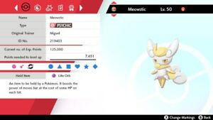 Ultra Shiny 6IV EV Trained Competitive Female Meowstic-F Pokémon Sword/Shield