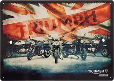 GENUINE Triumph Motorcycles Classic Union Jack Garage Sign Bonneville 45% OFF