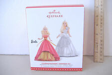 ~CELEBRATION BARBIE ORNAMENT SET~2015 HALLMARK ~