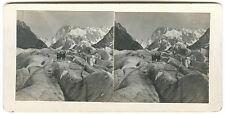 PHOTO STEREO Chamonix, Mer de Glace, 1913  - STEREOVIEW FOTO
