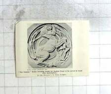 1927 Working Model For Sunken Panel Centaur Relief William King