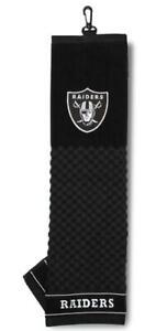 "Las Vegas Raiders 16""x22"" Embroidered Golf Towel [NEW] NFL Golfing Cotton"