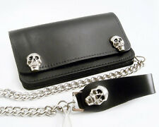 SKULL Biker Purse USA Leather Purse Wallet Chain Gothic SKULL Skirt