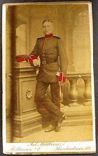 Infanterie Regiment Graf Barfüß Mörchingen Koloriert Soldat CDV Foto (Y-2488