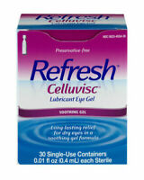 Refresh Celluvisc Lubricant Soothing Eye Gel 30 Single-Use Containers exp 6/2022