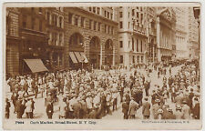 THE CURB MARKET REAL PHOTO POSTCARD BY UNDERWOOD, BROAD ST. NYC