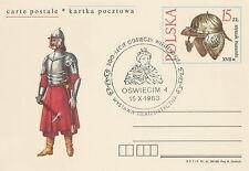 Poland postmark OSWIECIM - relief of Vienna JAN III SOBIESKI