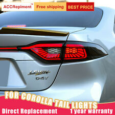 For Toyota US Corolla LED Taillights Assembly Dark LED Rear Lamps 2020-2021