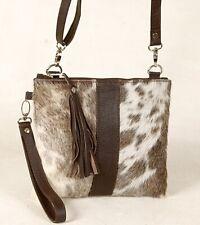 Real Cowhide Cross body Purse Handbag & Hand Clutch  Cow Hide Leather  SA-360