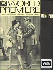 JAMES FRANCISCUS DIANE BAKER JANICE RULE TRIAL RUN ORIGINAL 1969 NBC TV PRESSKIT