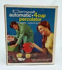 Cornwall Percolator Auto Yellow 4 Cup Electric Travel Coffee Tea Soup Pot Maker