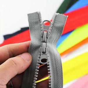 80/90cm Long Zip Open Ended Resin Zipper Double Slider No. 5 DIY Sewing Coat New