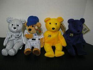 24 Baseball Bamm Beanos Plush Bear Collection