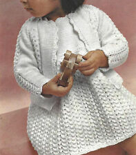 BABY GIRLS PRETTY DRESS & JACKET KNITTING PATTERN  (895)