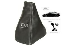 Gear Gaiter For Saab 9-3 2003+ Leather Grey 93 Embroidery