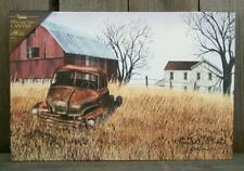 "Billy Jacobs 18"" Grandad's Ole Truck Lighted Canvas Art Print-Barn Farm Picture"