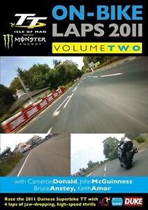 ISLE OF MAN TT - ON-BIKE LAPS 2011  V-TWO  DVD - FREE POST UK- MINT SEALED