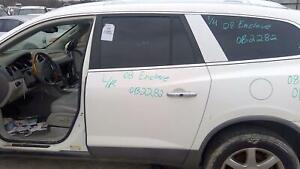 08-17 BUICK ENCLAVE REAR DRIVER SIDE DOOR LEFT LH OEM WHITE U8554