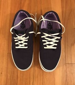 VANS Off the Wall NAVY BLUE Casual Shoes Sneakers Womens 10, Mens 8.5 EUC