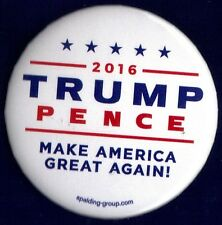 """2016 Donald Trump & Mike Pence 2-1/4"""" / Spalding Group Campaign Button(Pin 39W)"""