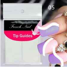 Nail Art Sticker French Tip Manicure Guides Stickers MOON / SWIRL (DF3)