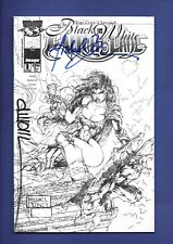 2000 Witchblade Black & White No. 1, SIGNED Michael Turner D-TRON TOP COW
