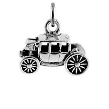925 Sterling Silver Stagecoach Carriage Charm