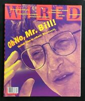 WIRED MAGAZINE - April 1994 - First BILL GATES Cover / John Perry Barlow