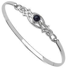 Saphir Armbänder im Armreif-Stil aus Sterlingsilber mit echten Edelsteinen