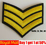 Army Sargent Stripes Military Ranks style Embroidered Iron On Sew On Patches