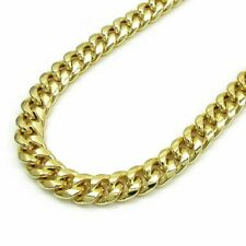 REAL 10k Gold Cuban Link Chain 28 Inch 9.5 mm Mens Necklace Box Lock  , Rope