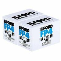 2x Ilford FP4 Plus 35mm 125 ISO Black & White Camera Film 36 exposure