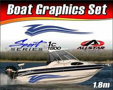 Boat Graphic Sticker Kit, Vinyl stripe decal for Marine or Automotive. SS_1C1800