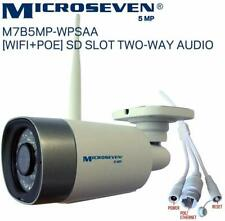 Microseven 5MP HD 2560x1920 [WiFi+PoE] IP Camera 2 Two-Way Audio SD Slot Alexa