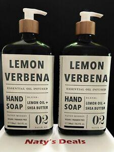 Lemon Verbena Lot of 2 Hand Soap Lemon Oil + Shea Butter 24.5 0z Each