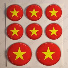 Stickers Vietnam Gel Domed Resin 3D Flags Vietnam Vinyl Sticker Decals Helmet