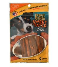 Sweet 'Tater Fries for Dogs Peanut Butter Coated Sweet potato fries pork 5oz